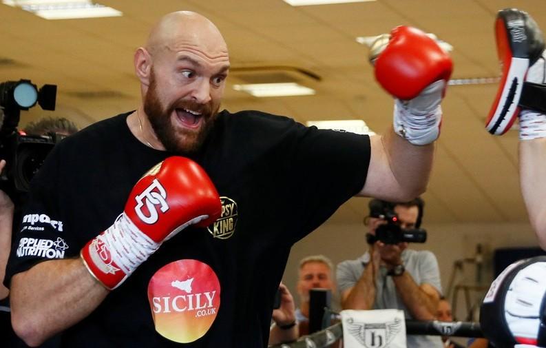 Tyson Fury in training