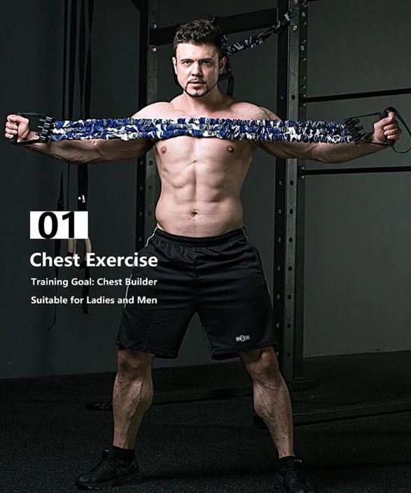 Chest exercises resistance bands