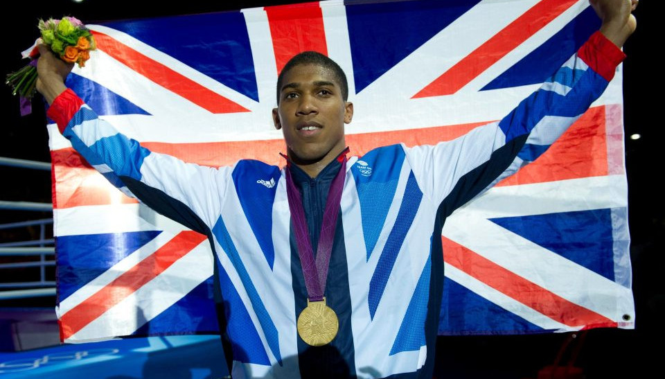 Joshua winning gold at London Olympics