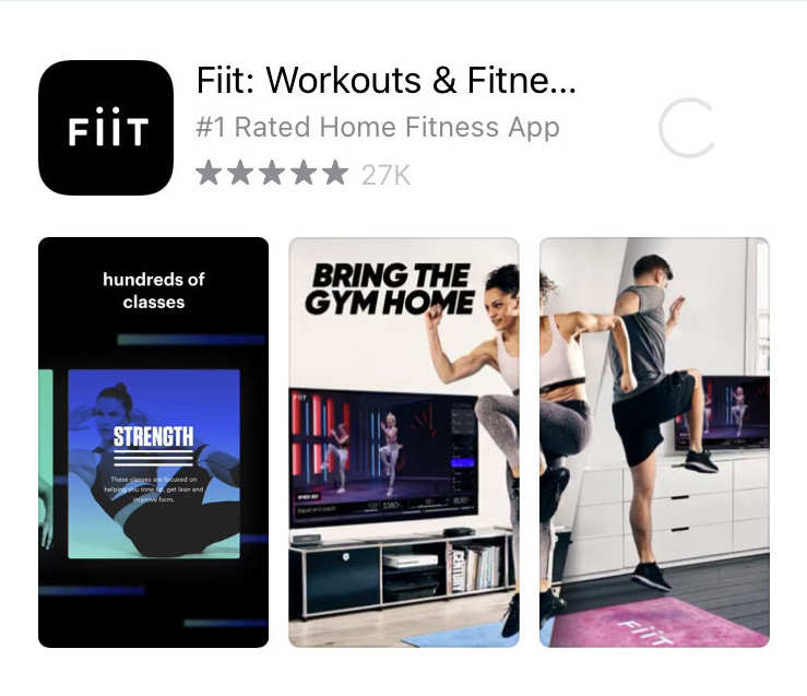 Number #1 Home fitness app