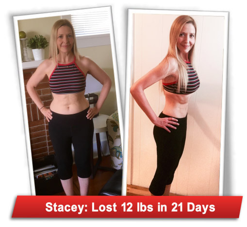 Stacey's 21 day results