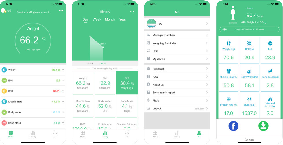 FitTrack App examples