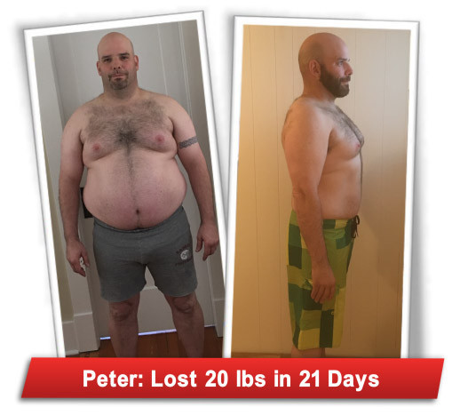 Peter's 21 day results