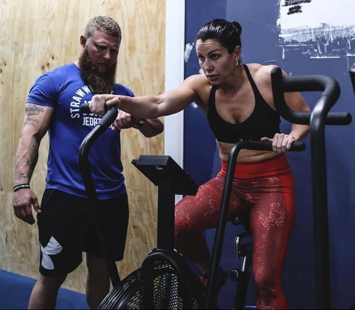 Maureen Shea working with Phil Daru