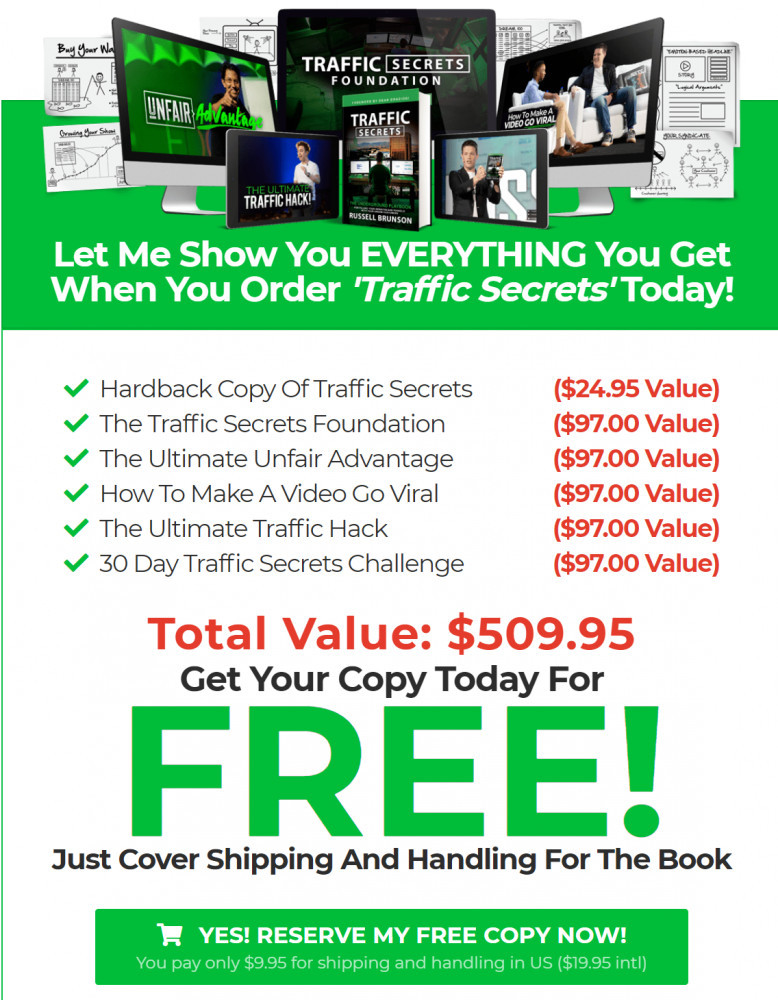 Free traffic secrets book plus bonuses
