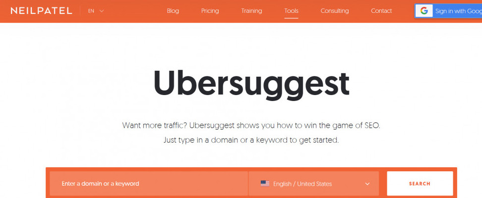 ubersuggest keyword research