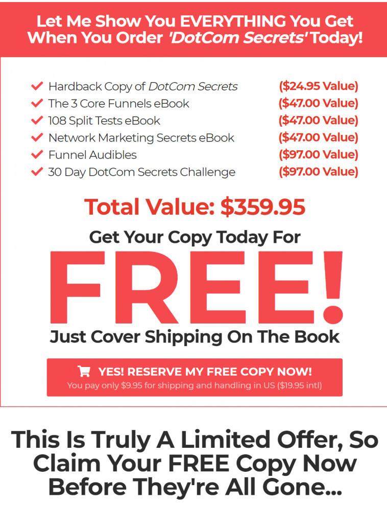Free Dotcome Secrets plus bonuses
