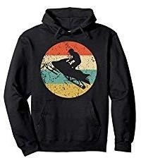 Retro snowmobiling hoodie