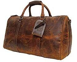 Rustic Town Handmade Leather Overnight Duffel Bag