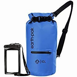 Earth Pak Dry Bag with Front Zipper and Waterproof Phone Case