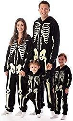 Glow in the Dark Skeleton Family Costume