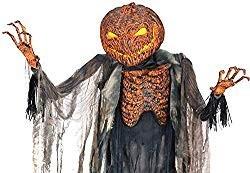 Lifesize Scorched Pumpkin Scarecrow Animatronic