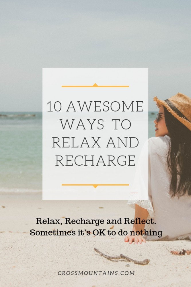how to relax and recharge