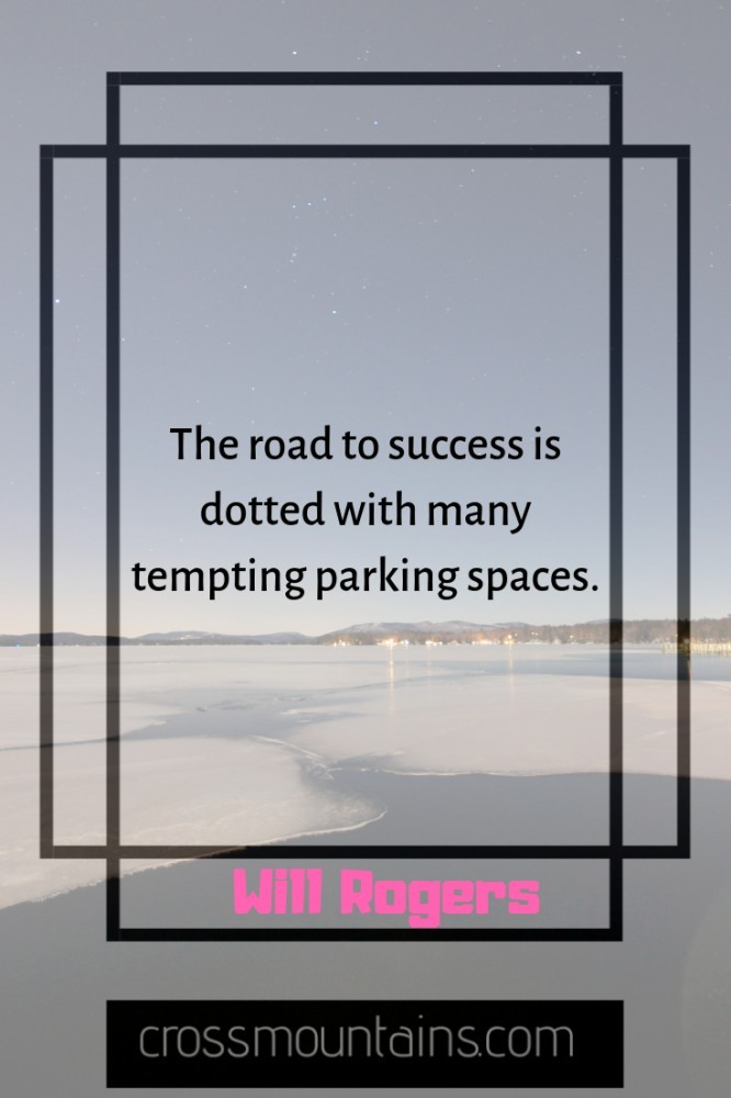 inspirational funny quotes about the road to success
