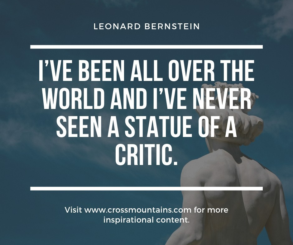 quotes for haters from leonard bernstein