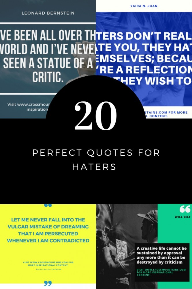 20 quotes for haters