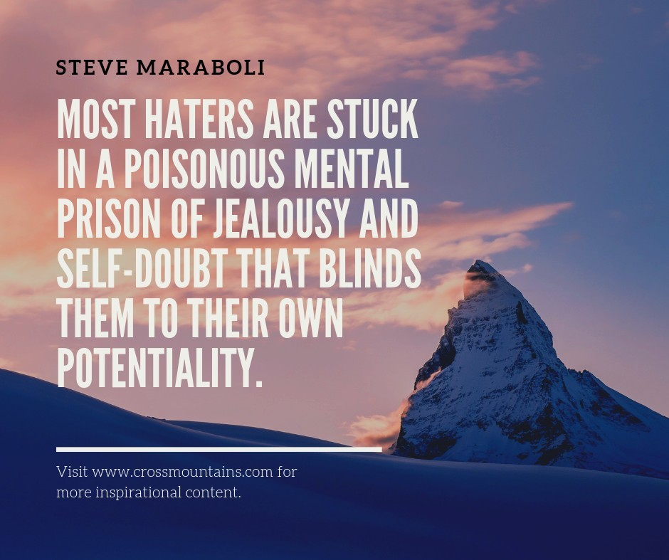 quotes for haters by steve maraboli