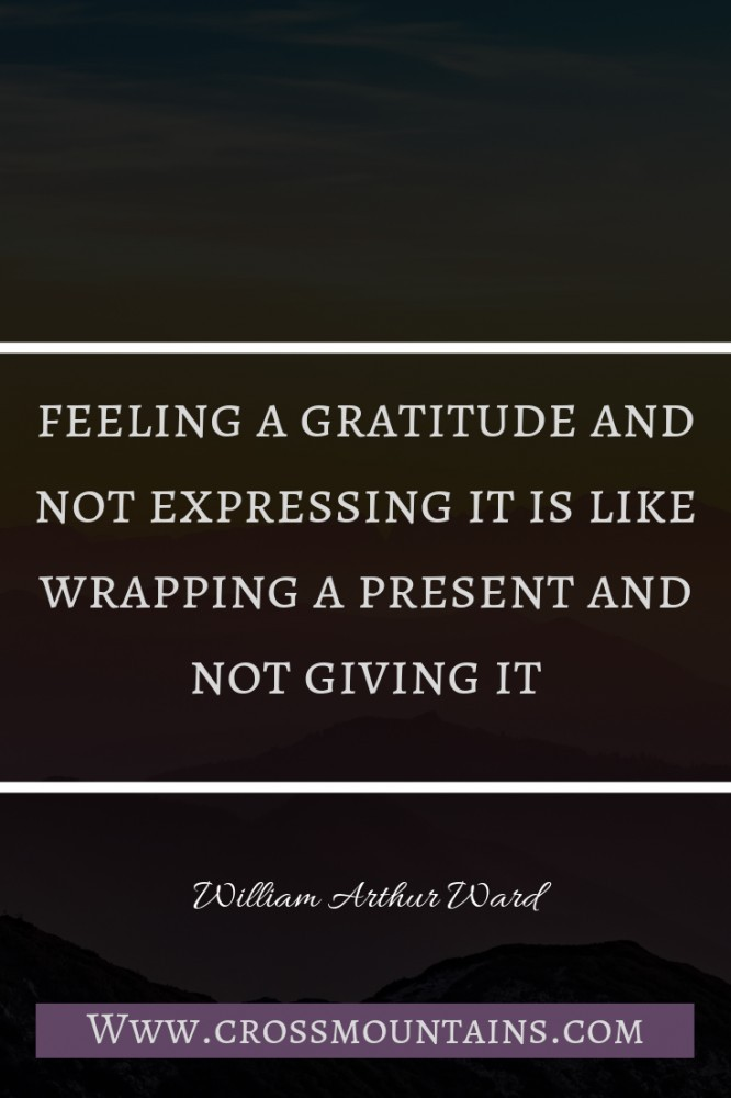the importance of being grateful for something today