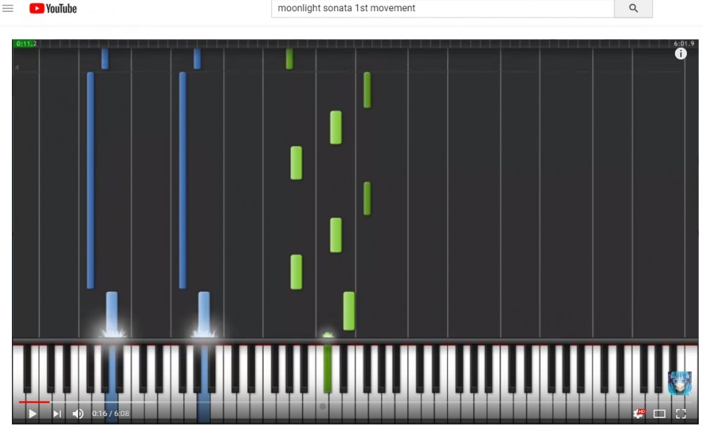 How to learn piano online for free with YouTube.
