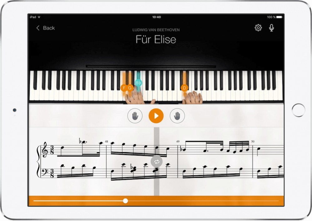 How to learn piano online with an app.