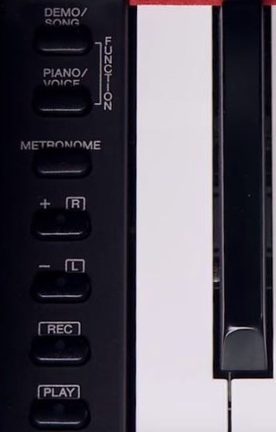Yamaha YDP-143 control panel left side