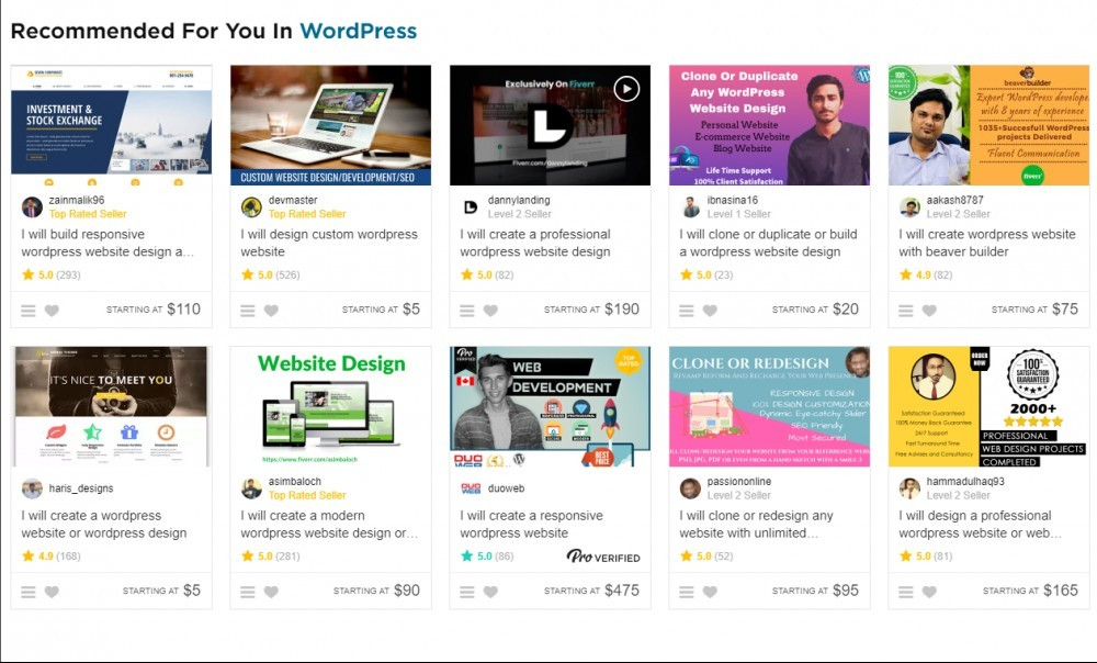 100+ Ways to Start Your Own Fiverr Side Hustle