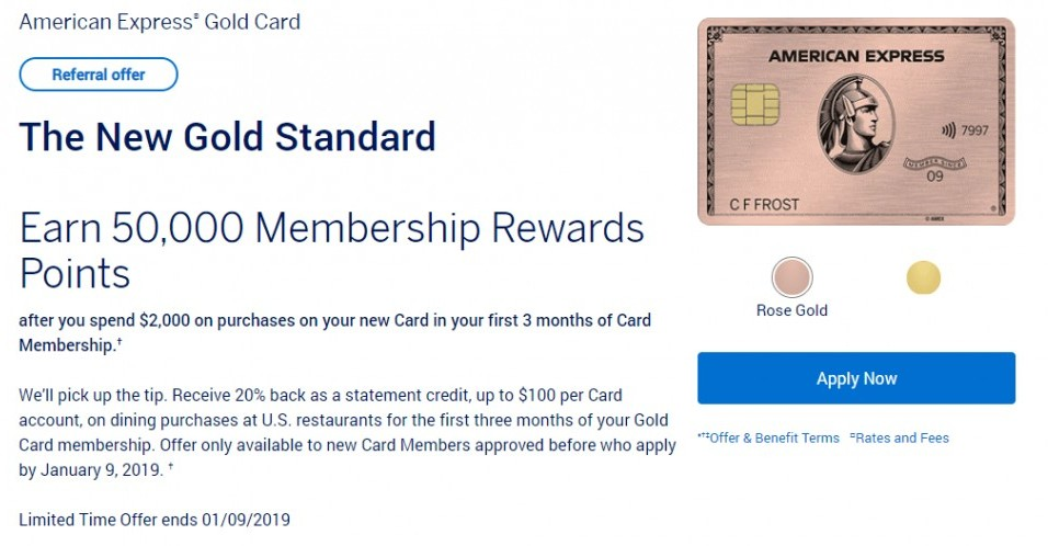 How to Drive Across the Country for Cheap - American Express Gold Card Sign up bonus