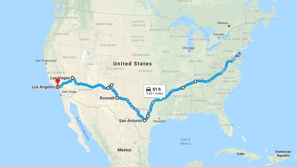 How to Drive Across the Country for Cheap