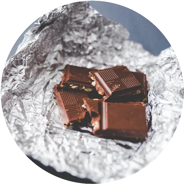 Chocolate in tinfoil