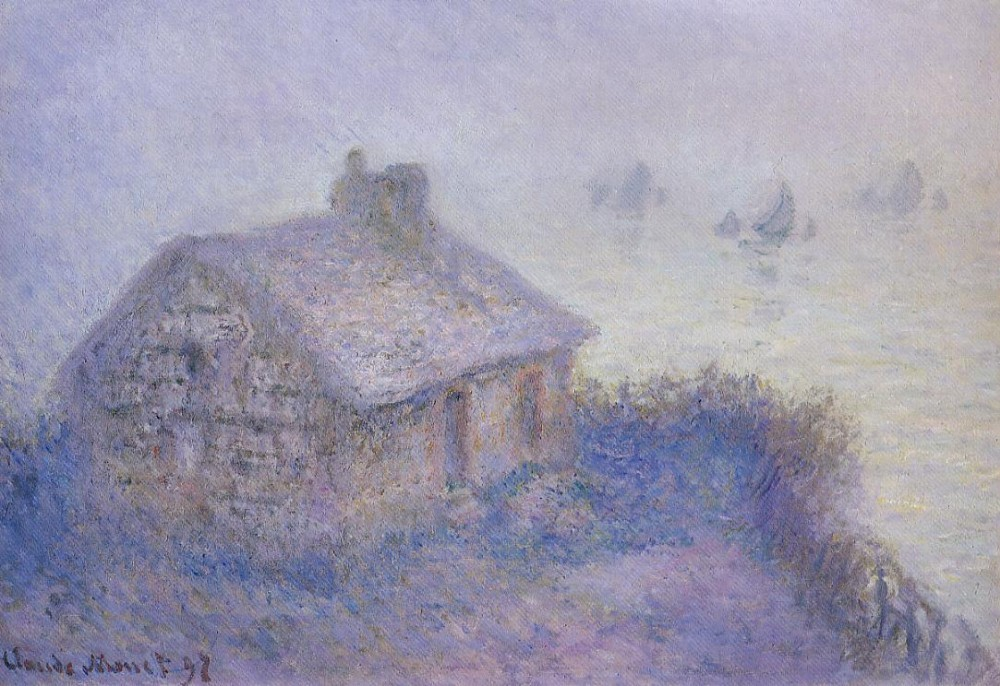 Customs House at Varengeville in the Fog (aka Blue Effect) 1897