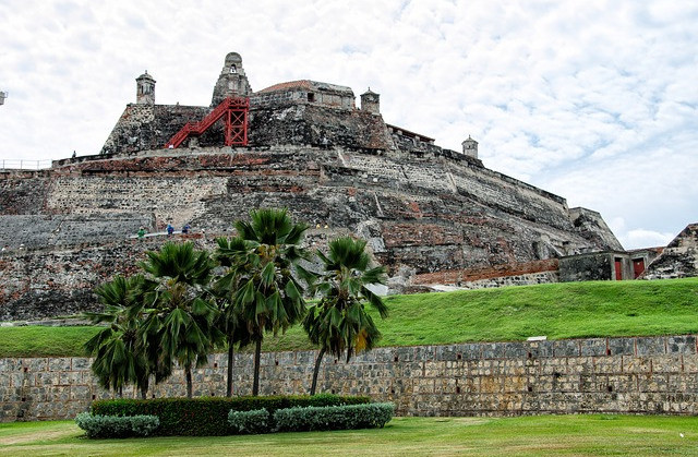 The fort of Cartagena Colombia. Used in the article, Best of Medellin, Cartagena and the Pacific Coast of Colombia