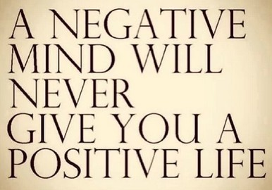 Be positive about life