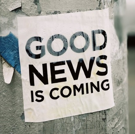 Good news is coming from our post!
