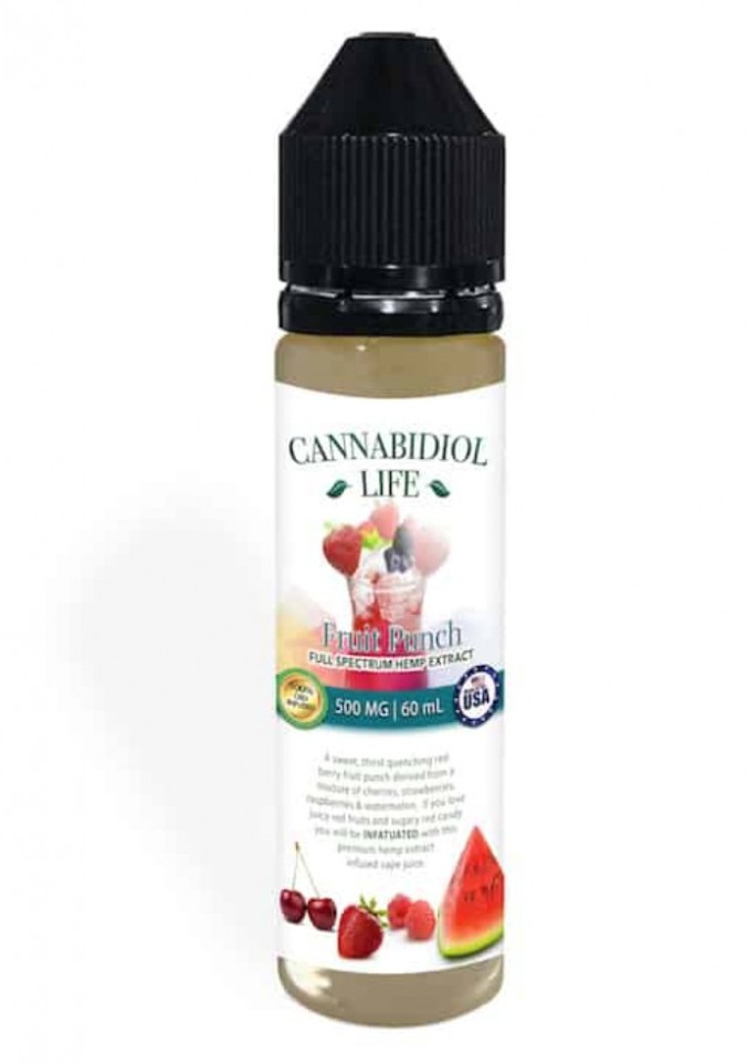 Fruit punch flavored vape oil from Cannabidiol life