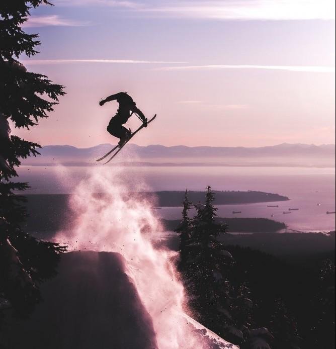 Skiing is fun while high