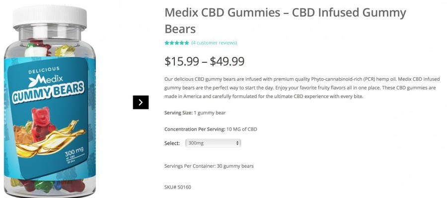 Medix CBD gummy bears