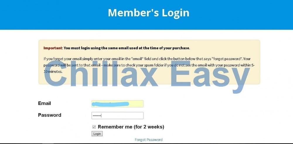 member's login