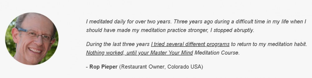 Comment on Master your Mind