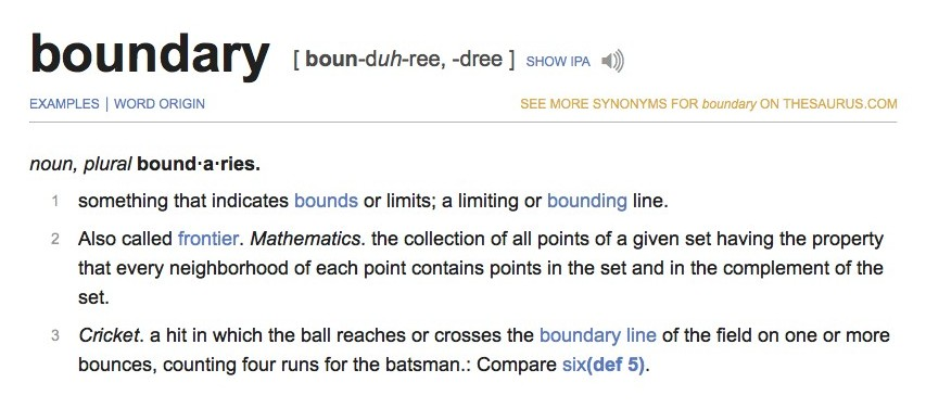 boundary definition