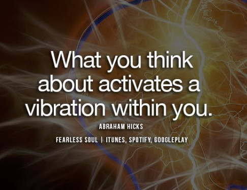 thinking activates vibrations