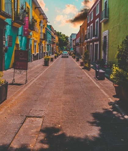the colourful houses of mexico