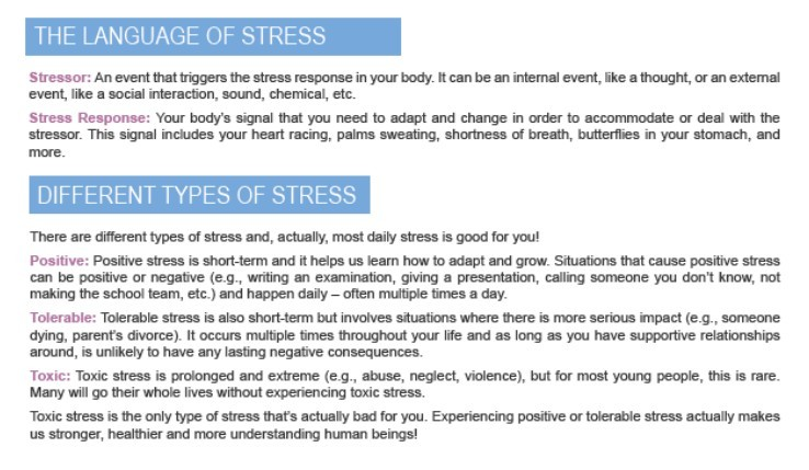 the language of stress