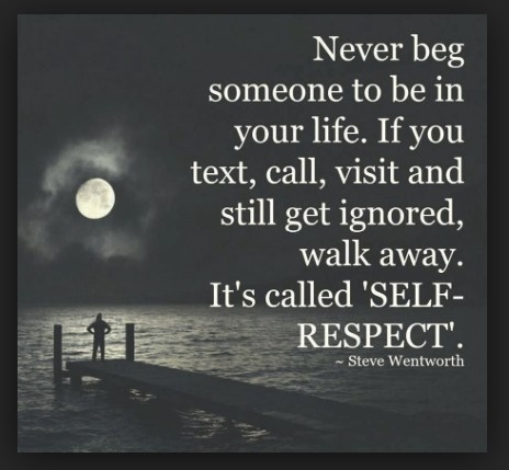 self respect or walk away