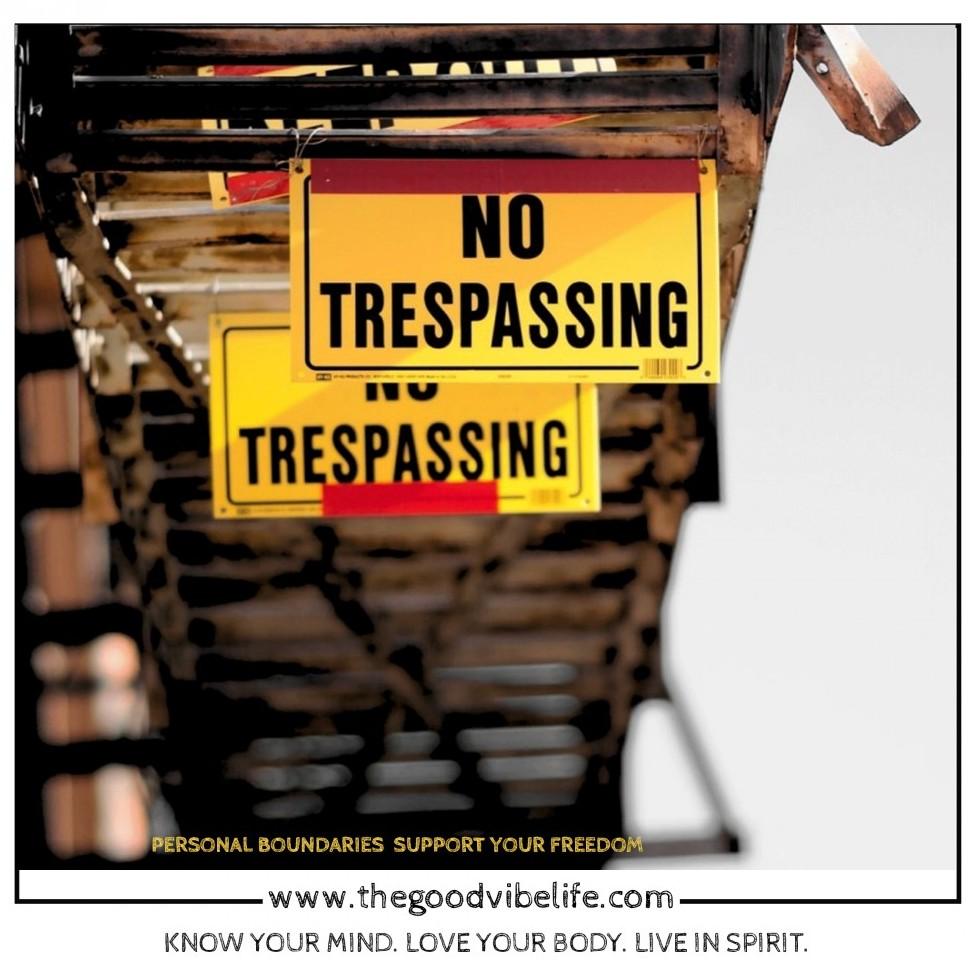 no trespassing on boundaries