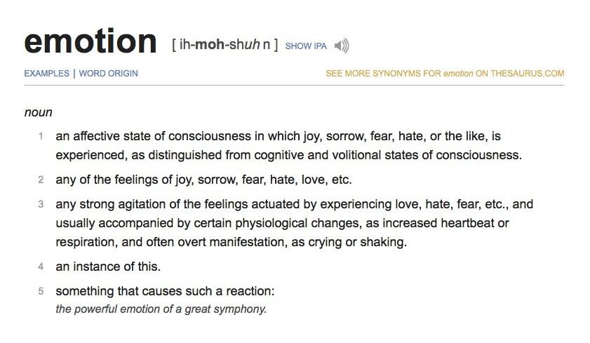 emotion a definition