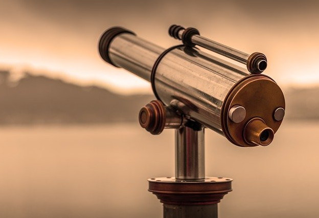 What is distant healing through a telescope