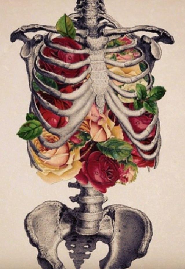 Human heart intelligence floral feels