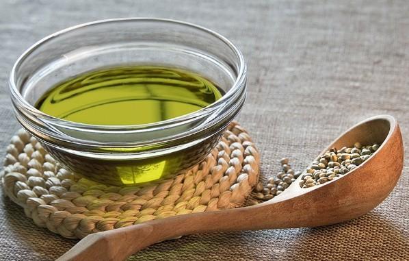 CBD oil in a bowl