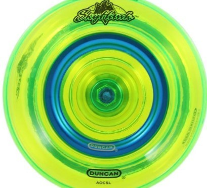 Duncan Skyhawk offstring yoyo metal ring in blue
