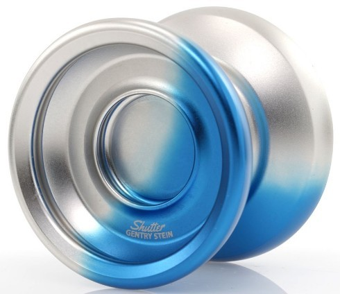 YoyoFactory Shutter designed by Gentry Stein in white and blue